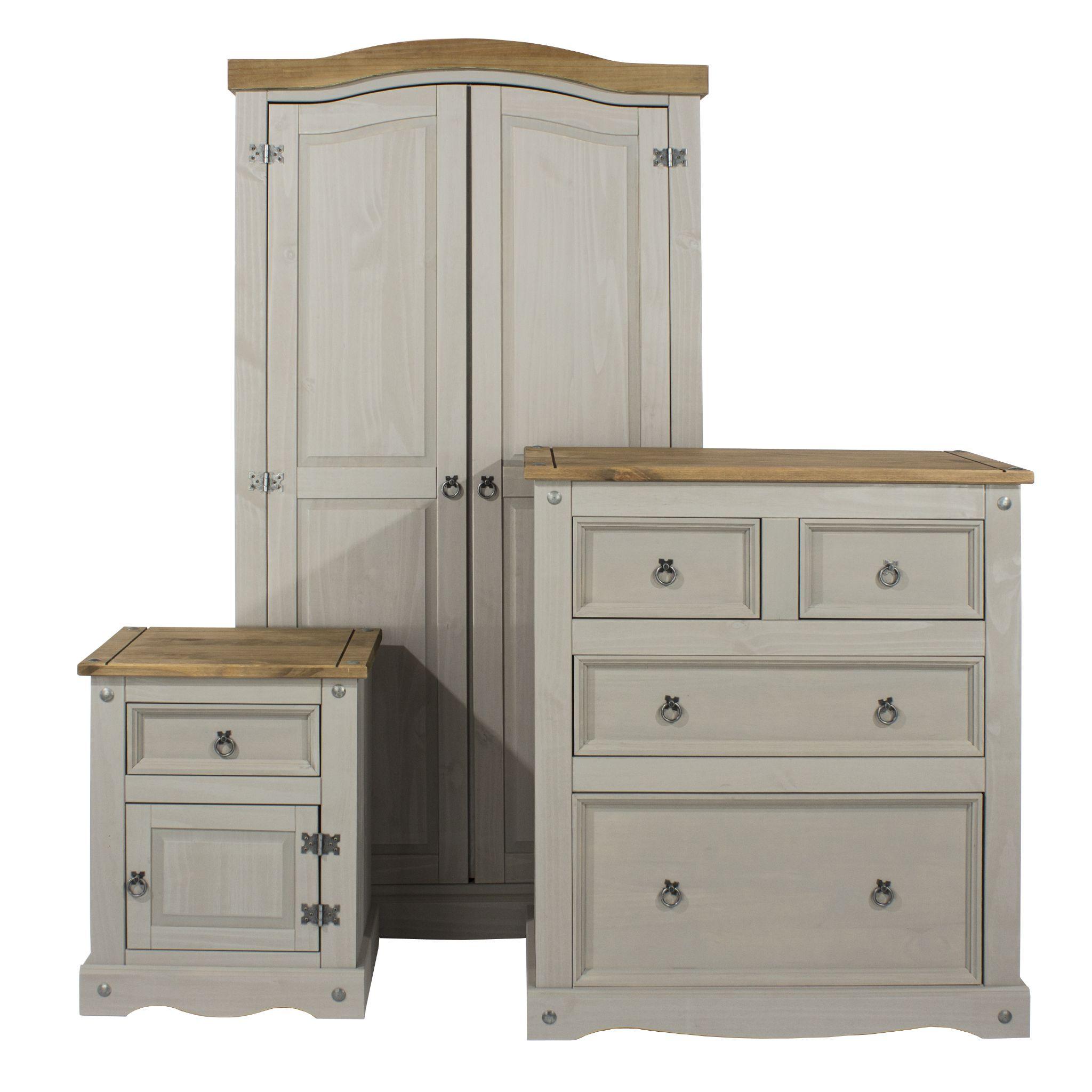 Premium Corona Grey Wash Bedroom Set