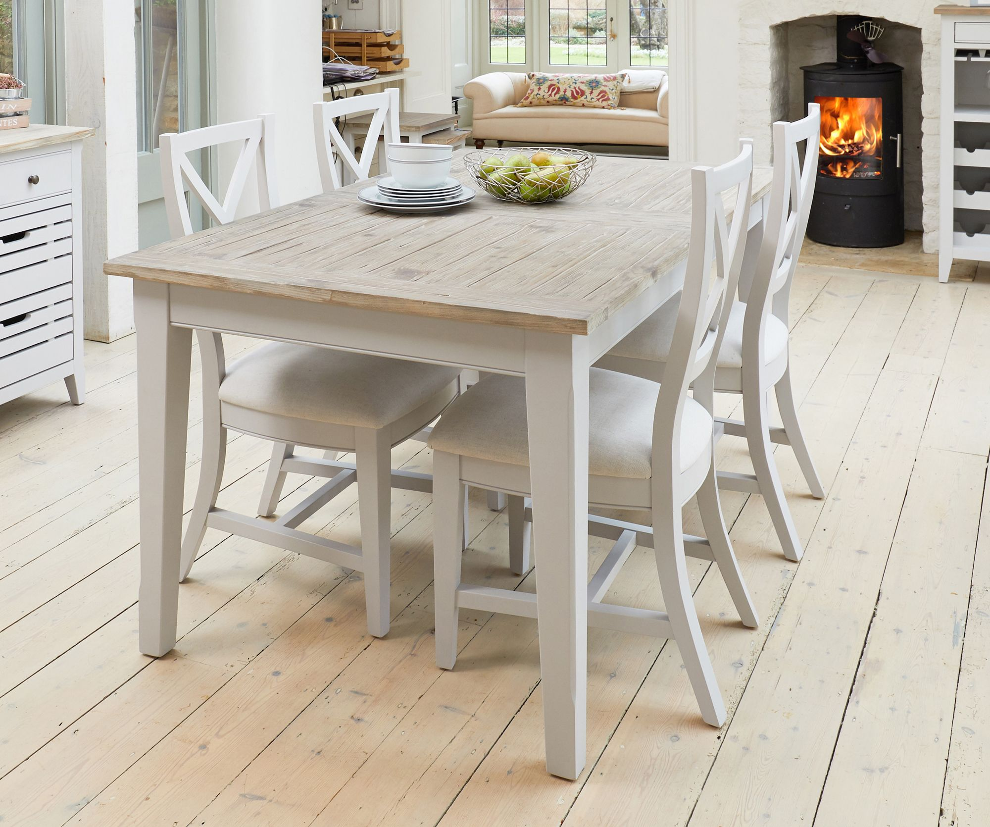 Picture of: Signature Dining Set Includes A Solid Wood Extending Dining Table With A Choice Of Benches Or Chairs