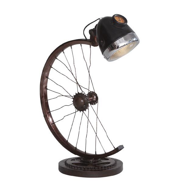 Half Wheel Lamp made from Recycled and Upcycled Bicycle Wheels