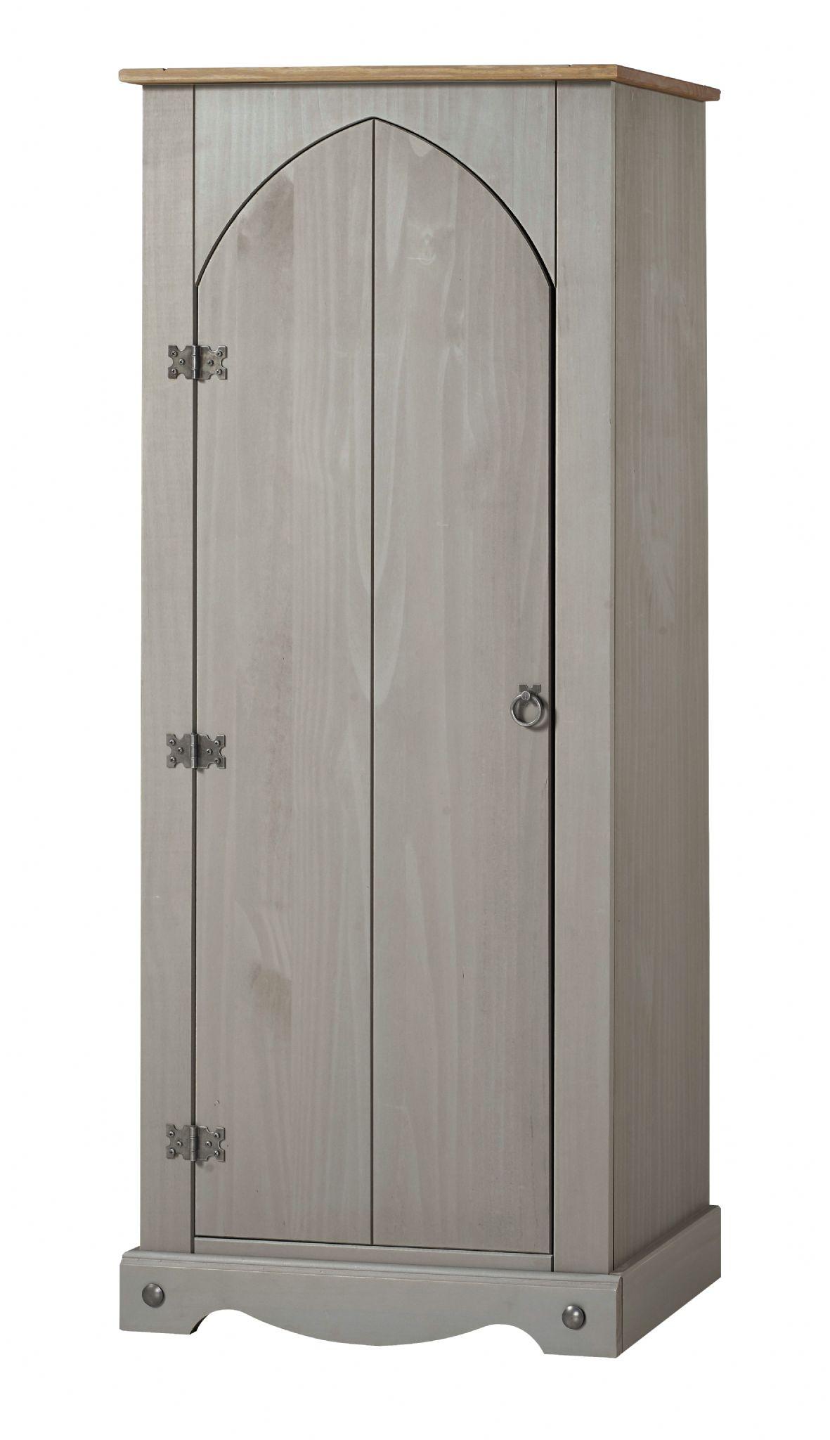 Premium Grey Wash Corona Solid Pine Vestry Cupboard