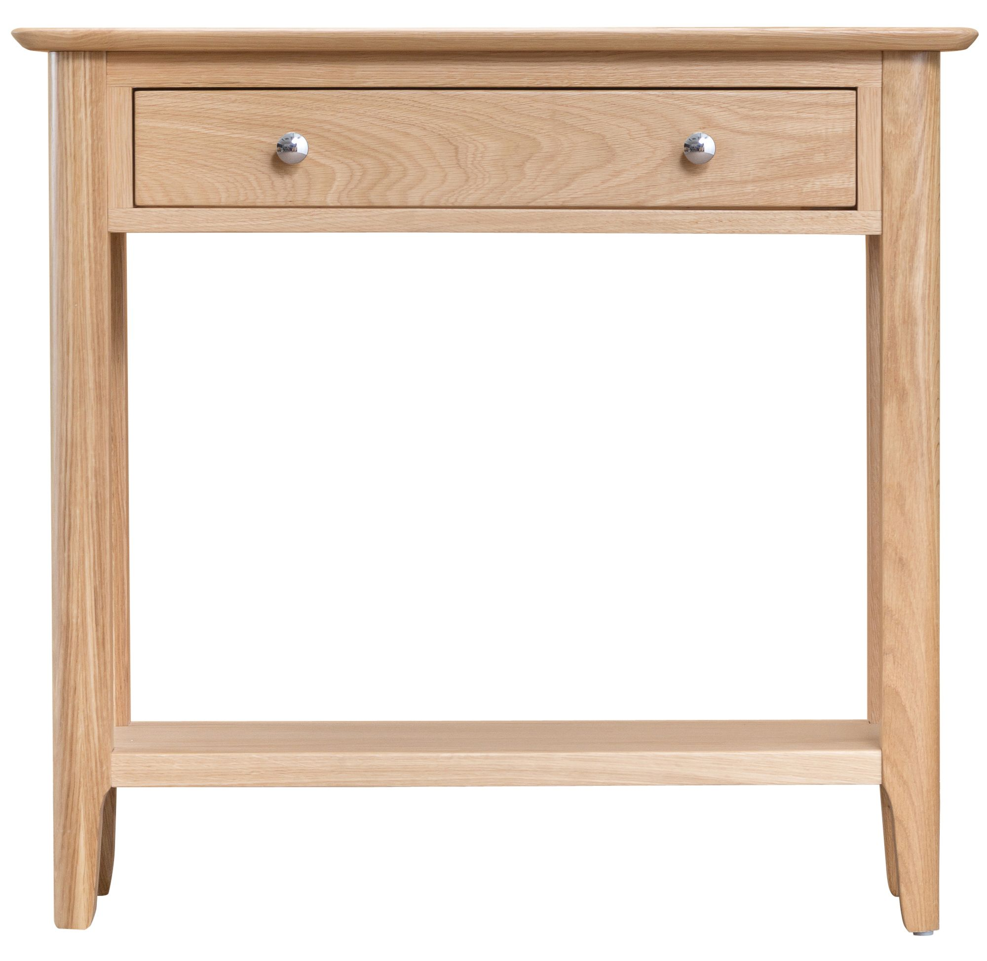 Scandia Natural Light Oak Console Table With Two Drawers