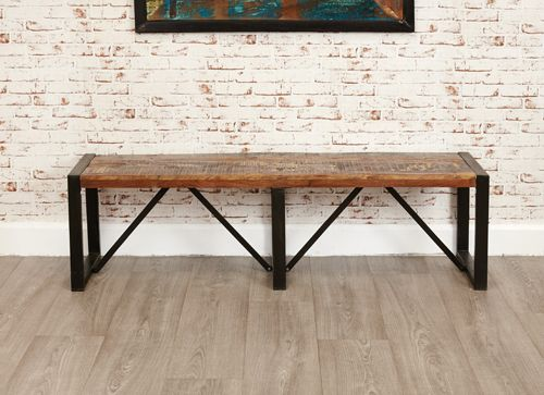 Urban Chic Large Reclaimed Wood Dining Bench Available In Two Sizes